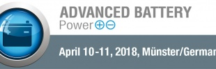 10th Advanced Battery Power Conference on Apr 10-11, 2018 in Münster, Germany