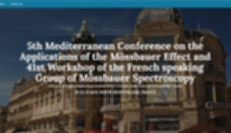 5th Mediterranean Conference on the Applications of the Mössbauer Effect and 41st Workshop of the French speaking Group of Mössbauer Spectroscopy